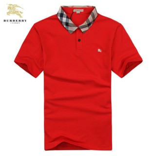 Burberry Uni T Shirt Homme Rouge Manches Courte Polo Madeleine