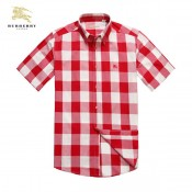 Burberry Rose Manches Courte Chemise Homme Imper Occasion
