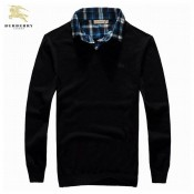 Burberry Pullover Pull Homme Manches Longue Noir Col V Uni Boutique Lille