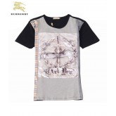 Burberry Serigraphie Manches Courte Col Rond T Shirt Homme Multicolor Outlet Londres