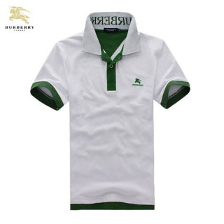 Burberry Uni Manches Courte T Shirt Homme Blanc Polo Magasin France
