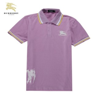 Burberry Uni Manches Courte T Shirt Homme Rose Polo Portefeuille