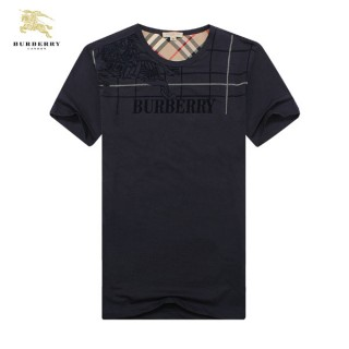 Burberry Bleu Manches Courte Uni T Shirt Homme Col Rond Trench Prix