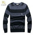 Burberry Gris Rayures Manches Longue Pullover Pull Homme Bruxelles