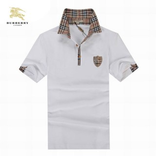 Burberry Manches Courte T Shirt Homme Polo Blanc Uni Online Store