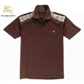 Burberry Marron Manches Courte Uni T Shirt Homme Polo Cara Delevingne