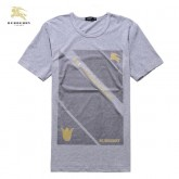 Burberry T Shirt Homme Manches Courte Col Rond Gris Online
