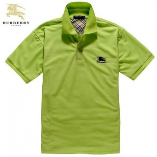 Burberry Uni T Shirt Homme Polo Vert Manches Courte Imper Occasion