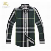 Burberry Blanc Chemise Homme Manches Longue Soldes