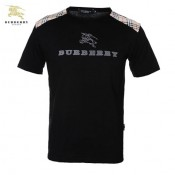 Burberry Col Rond Manches Courte T Shirt Homme Noir Trench Occasion