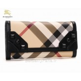 Burberry Marron Clutch et Sacs Sling Femme Portefeuille Smoked Check Cravate