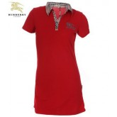 Burberry Rouge Polo T Shirt Femme Tunique Outlet Online