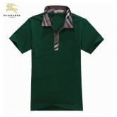 Burberry T Shirt Homme Vert Polo Uni Manches Courte France
