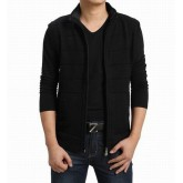 Burberry Cardigans Manches Longue Col Montant Noir Pull Homme Zippe France