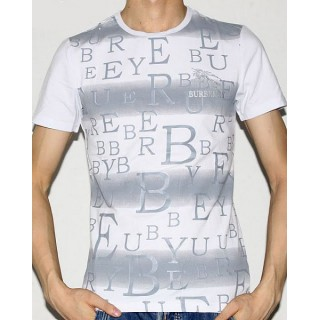Burberry Col Rond Manches Courte Blanc T Shirt Homme Imper Occasion