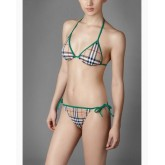 Burberry Maillot bain Bikini Gris Carreaux Cravate