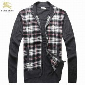 Burberry 2017 Col Montant Pull Homme Cardigans Multicolor Magasin France