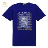 Burberry Bleu Manches Courte T Shirt Homme Col Rond Collection