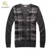 Burberry Cardigans Manches Longue Boutons Col V Gris Pull Homme Outlet Store