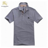 Burberry Gris T Shirt Homme Manches Courte Polo Logo Outlet Online