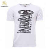 Burberry Manches Courte Serigraphie T Shirt Homme Blanc Col Rond Cravate