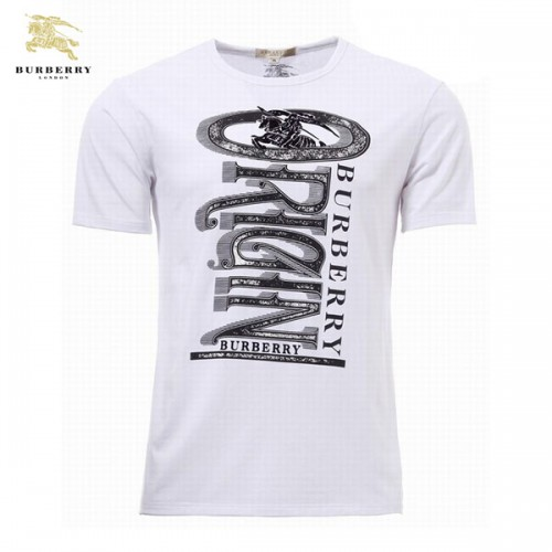 Blanc Cravate Serigraphie Col Shirt T Manches Courte Homme Burberry Rond 4jLq5Ac3RS