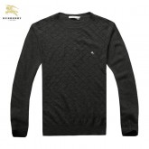 Burberry Manches Longue Pullover Pull Homme Gris Col Rond Madeleine