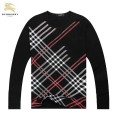 Burberry Manches Longue T Shirt Homme Col Rond Rouge Vente Privee