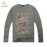 Burberry Manches Longue T Shirt Homme Col Rond Galeries Lafayette