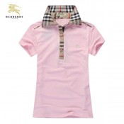 Burberry Polo Manches Courte Rose T Shirt Femme Magasin Paris