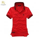Burberry Polo T Shirt Homme Rouge Uni Manches Courte Site Officiel