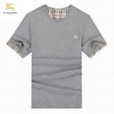 Burberry Uni Col Rond T Shirt Homme Gris Manches Courte Foulard Solde