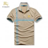 Burberry Uni Polo T Shirt Homme Manches Courte Beige Nouvelle Collection