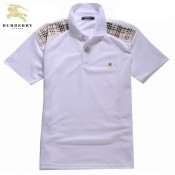 Burberry 2017 Manches Courte Polo Blanc T Shirt Homme Uni Collection