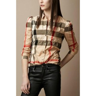 Burberry Chemise Femme Manches Longue Magasin Lyon