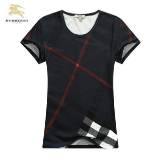 Burberry Manches Courte T Shirt Femme Col Rond Magasin France