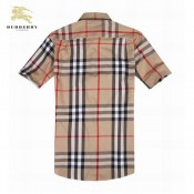 Burberry Chemise Homme Manches Courte Multicolor Outlet