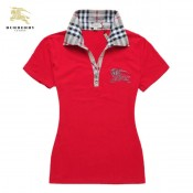 Burberry Polo Manches Courte T Shirt Femme Rouge Outlet Londres
