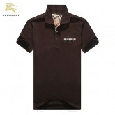 Burberry 2017 Manches Courte Polo Marron Uni T Shirt Homme Trench Soldes