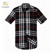 Burberry Chemise Homme Manches Courte Maquillage