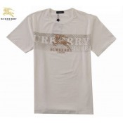 Burberry T Shirt Homme Blanc Manches Courte Col Rond Logo Galeries Lafayette