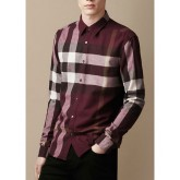 Burberry Blanc Chemise Homme Manches Longue Maquillage