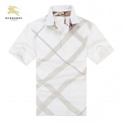 Burberry Blanc Polo T Shirt Homme Manches Courte Galeries Lafayette