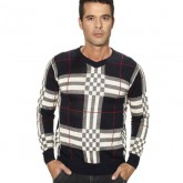Burberry Manches Longue Gris Pullover Pull Homme Col Rond Bruxelles