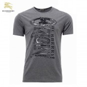Burberry Col Rond Manches Courte Gris T Shirt Homme Outlet Store