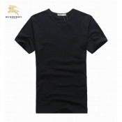 Burberry Col Rond Noir T Shirt Homme Uni Manches Courte Madeleine