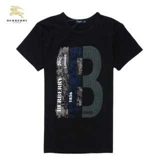Burberry Noir T Shirt Homme Manches Courte Col Rond Imper Occasion