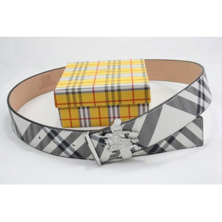 Burberry Ceinture reglable Rayures Blanc Chic Destockage