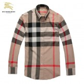 Burberry Chemise Homme Manches Longue Multicolor Official Website