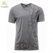 Burberry Col V Gris Manches Courte T Shirt Homme Magasin Lyon